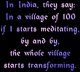 meditation transforms entire village